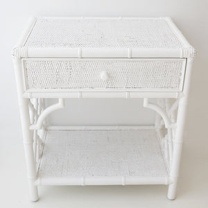 Bedside Table Chippendale - White