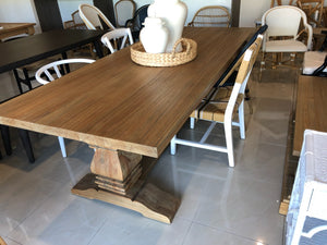 Dining Table Newport Rectangular Pedestal 1.8 x 0.9m VARIETY of SIZE Available