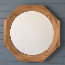 Load image into Gallery viewer, Nautical Teak Mirror