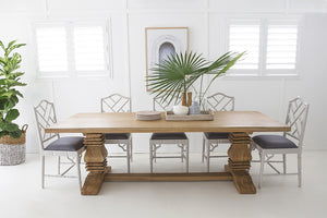 Dining Table Newport Rectangular Pedestal 2.2 x 1.0m VARIETY of SIZES Available