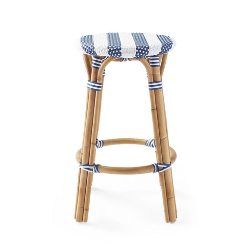 Sorrento Backless Counter Stool – Navy Striped