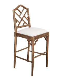 Chippendale Counter Stool – Weathered Oak