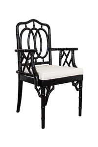 Chippendale Ring Armchair – Black