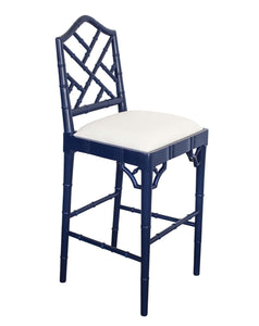 Chippendale Counter Stool – Navy