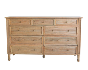 Weathered Oak Hamilton Dresser – 9 Drawer