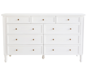 White Hamilton Dresser – 9 Drawer