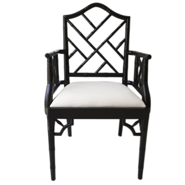 Chippendale Armchair – Black