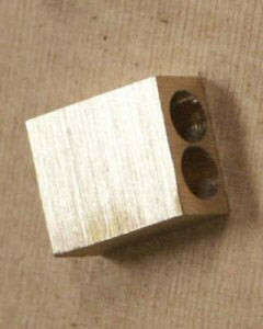 Truss Rod Brass Block