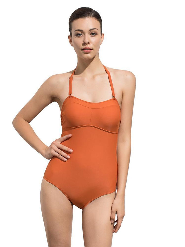 Classic Covered Belly Back Strap One-Piece Swimsuit