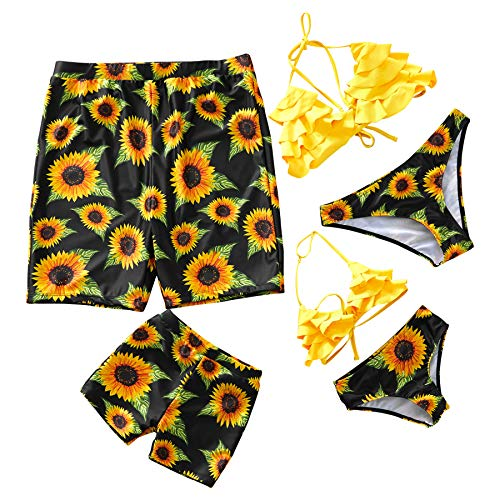 Yaffi Family Swimsuit Newest Bikini Set Bathing Suit Mommy And Me Beachwear