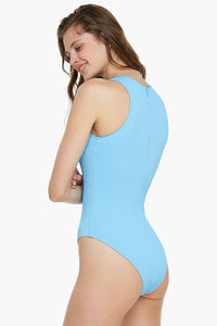 Blue Valentine Ribbed One Piece Swimsuit