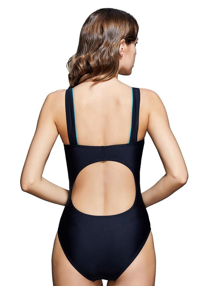 Retro Competitive Sleeveless One Piece Swimsuit