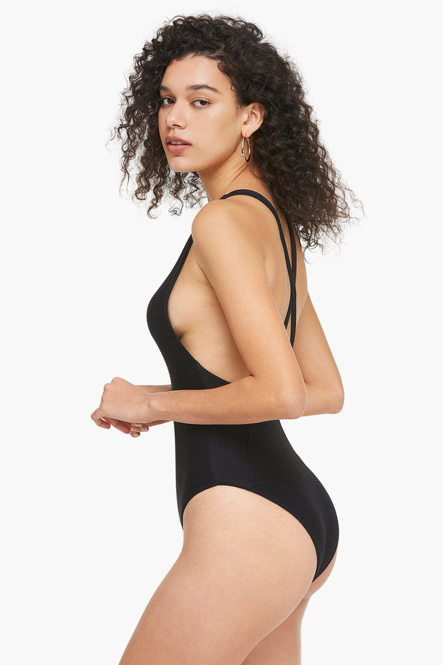 Timeless Ribbed Crossback One-Piece Swimsuit