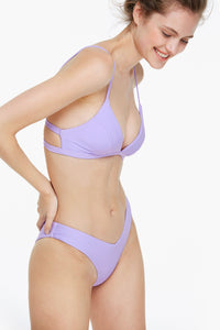 Purple Triangle Bikini Set