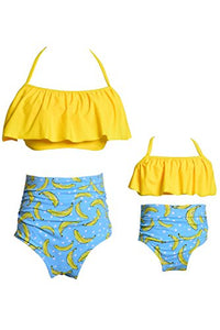 WIWIQS Summer Cute Baby Girls Bikini Set Family Matching Swimwear Mommy and Me Swimsuit(Prime