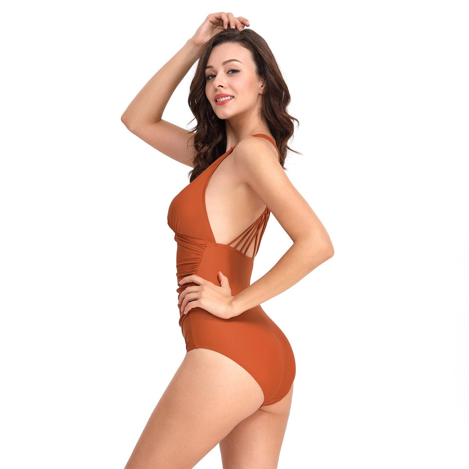 Multi-Braces One Piece Swimsuit