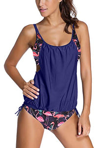 Sidefeel Women Tribal Printed Tankini with Boyshort Bikini Set at Amazon Women's Clothing store