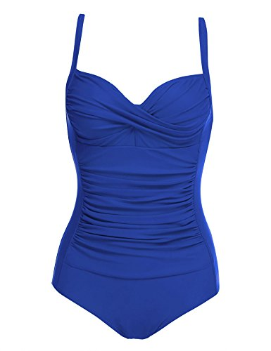 luxilooks One Piece Swimsuit Women Tummy Control Monokini Swimwear Sexy V-Neck Bathing Suits S-XXL at Amazon Women's Clothing store