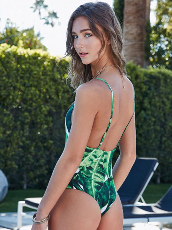 Printed One-piece Swimwear