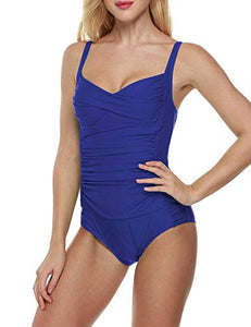 Memory baby Women's Deep V High Waisted Swimsuit Halter One Piece Bikini Bathing Suit ... at Amazon Women's Clothing store