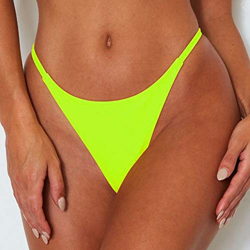 ForBeautyShe Women's Sexy Thong Bottom Two Piece Bikini Double Shoulder Straps Cute Swimsuit Triangle Bathing Suit