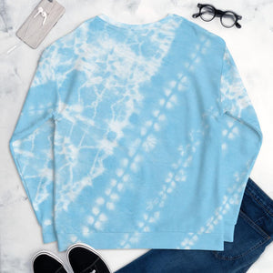 Blue Tie Dye Sweatshirt - Baby Blue - peace-lover