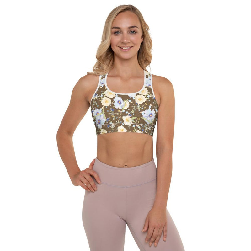 Boho Floral Padded Sports Bra - peace-lover