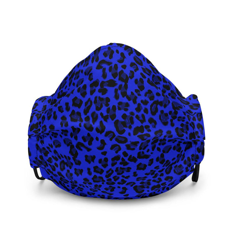 Face mask - Neon Blue Leopard - peace-lover
