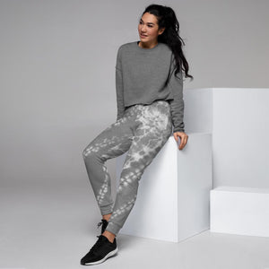Grey Tie Dye Women's Joggers - peace-lover