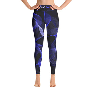 High waist leggings - Blue Geometric