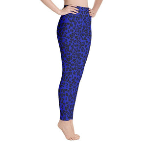 Neon Yoga Leggings - Blue Leopard - 7