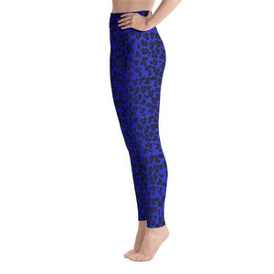Neon Yoga Leggings - Blue Leopard - 11