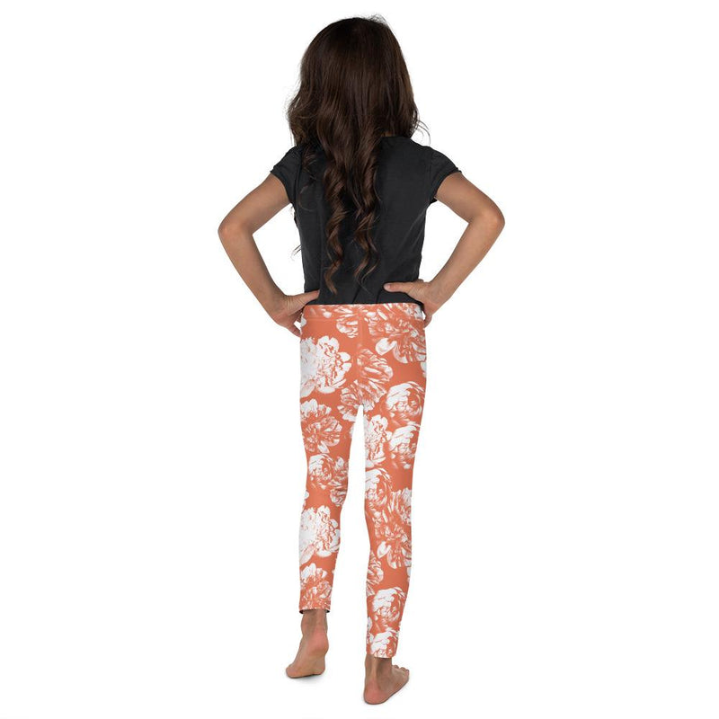 "Kid's Leggings - ""Mini Me"" Peach Blossom - peace-lover"