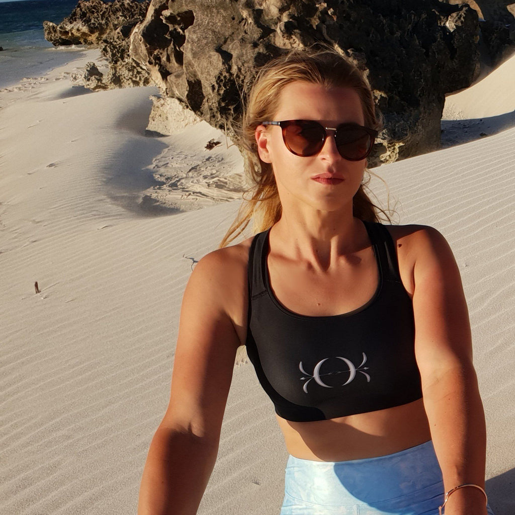 Sports bra - Silver Logo | peace-lover clothing