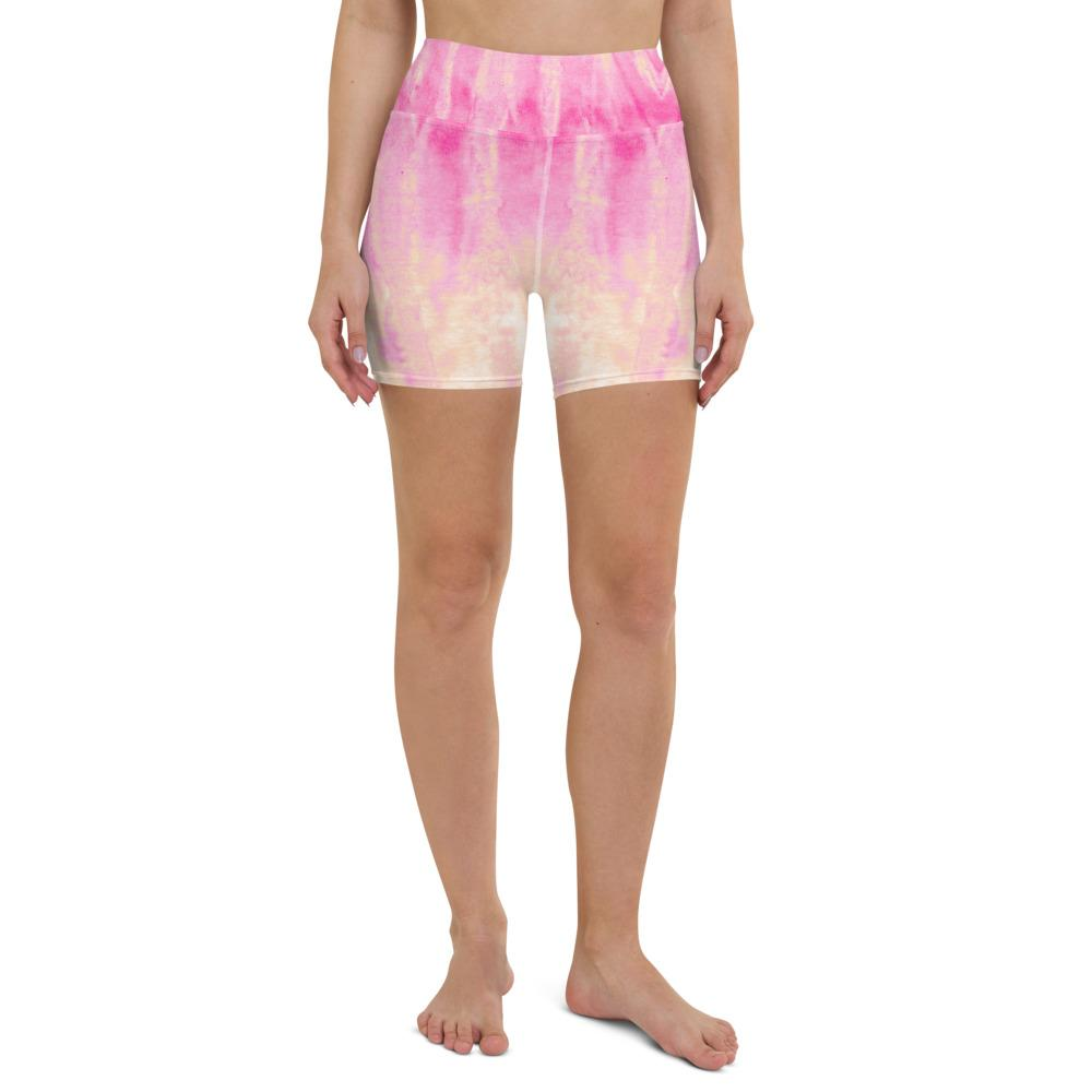 Tie Dye Yoga Shorts - Roses - peace-lover
