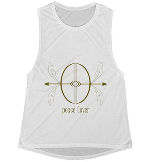 Women's Flowy Scoop Muscle Tank - Basic - peace-lover