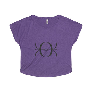 Women's Tri-Blend Dolman - Smoke - peace-lover