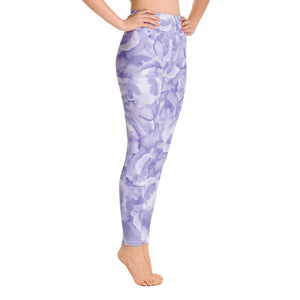 Yoga Leggings - Purple Blossom - Printed Leggings for Women - peace-lover