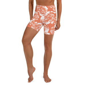 Yoga Shorts - Peach Blossom - peace-lover