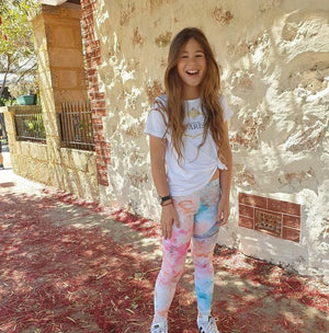 Youth Leggings - Hummingbird - peace-lover
