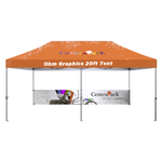 High Quality Custom Printed 20ft Tent with Canopy & Double Sided 20ft Half Back Wall