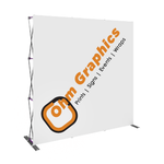 Luxury High Quality Pop Up Backdrop 8ft Straight or Curve