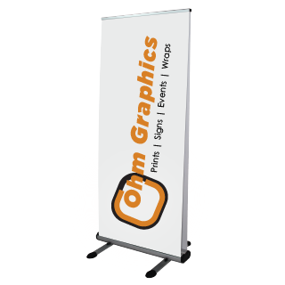 "Luxury Double Sided Outdoor Retractable Banner 33.5""W by 80""H"