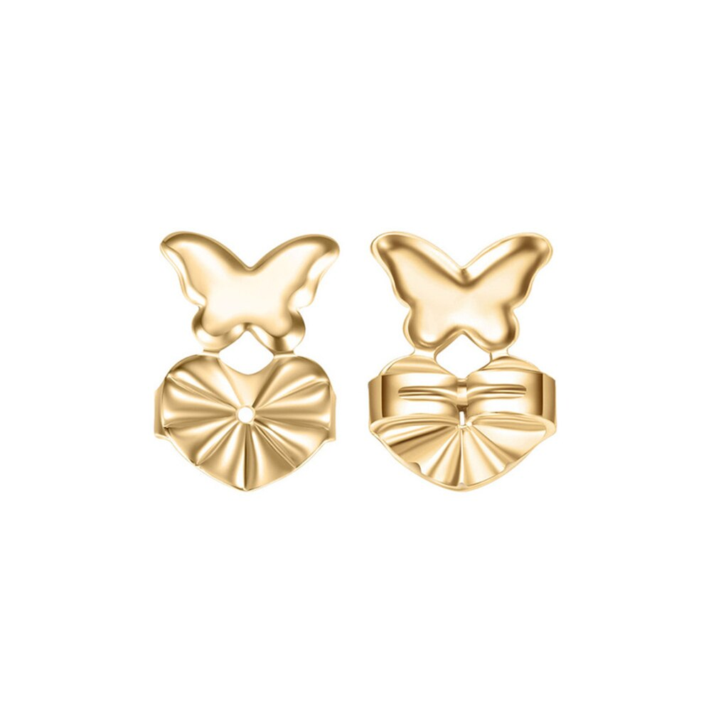 Butterfly Stud Earrings - Earlobe Support For Women