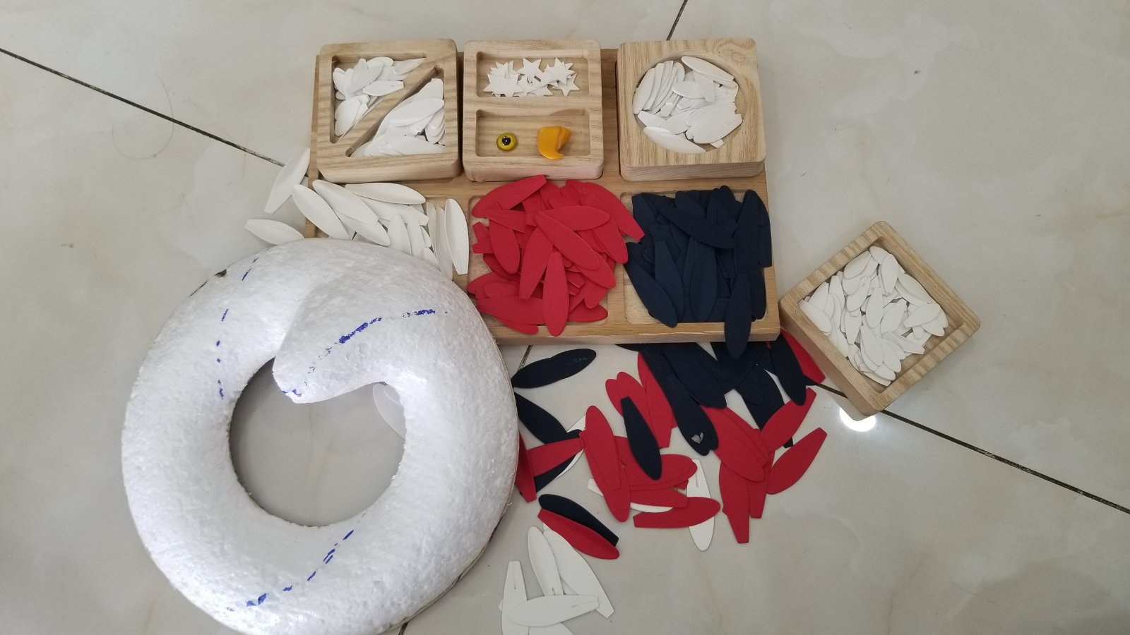 Material set of American Eagle Wreath
