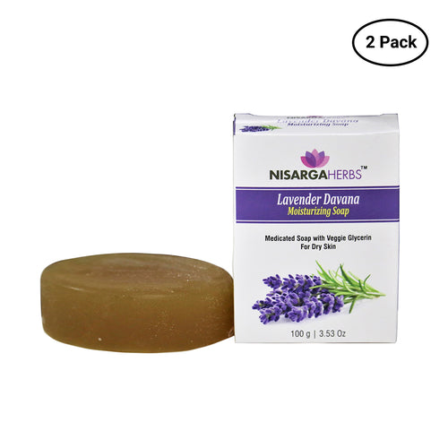 Lavender Davana Moisturizing Soap (Pack of 2)