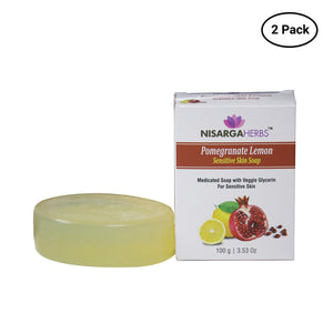 Pomegranate Lemon Sensitive Skin Soap (Pack of 2)