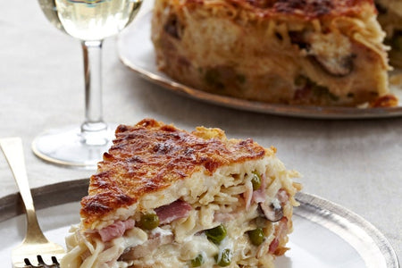 Easter Pasta Pie - Mafaldine Primavera (small, feeds 3-4)