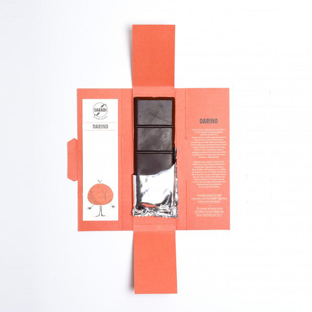"**SPECIAL PRICE** 20% OFF ""DARINO"" Organic Modica Chocolate with Ciaculli Late Mandarin Zest"