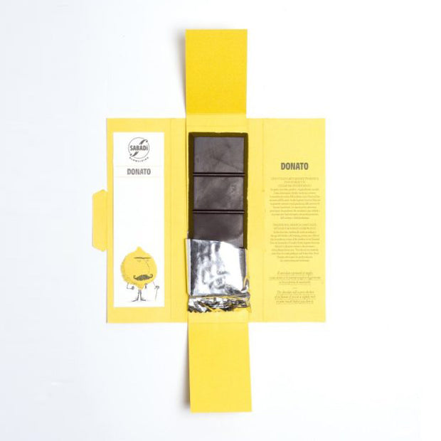 """DONATO"" Organic Modica Chocolate with Interdonato Lemon Zest"